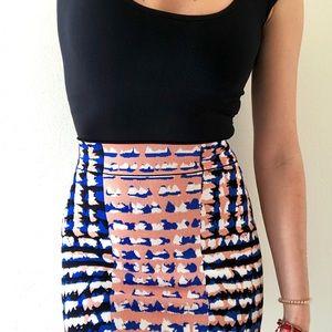 BCBGMAXAZRIA Emery Printed Skirt